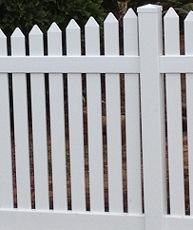 semi-privacy PVC fencing